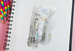 Times Square sketch (Carina » Polka & Bloom) Tags: timessquare newyork sketch sketchbook