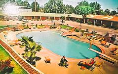 American Postcard (Thomas Hawk) Tags: america california sfmoma sanfrancisco usa unitedstates unitedstatesofamerica motel pool postcard swimmingpool us fav10