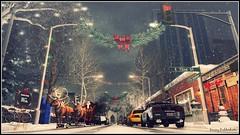 A New York Christmas (Eminy Roddenham) Tags: newyork centralpark fifthavenue christmas shopping santa sleigh snow night city reindeer secondlife sl slchristmas holiday celebration picmonkey photoshop photography