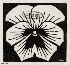 Woodcut flower (1920) by Julie de Graag (1877-1924). Original from the Rijks Museum. Digitally enhanced by rawpixel. (Free Public Domain Illustrations by rawpixel) Tags: ancient antique art artwork bloom botany decoration drawing fashion floral flower garden handdrawn homedecor illustrated illustration isolated juliedegraag nature old pdrijks petal plant print publicdomain rijksmuseum sketch stamp vintage woodcut