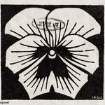 Woodcut flower (1920) by Julie de Graag (1877-1924). Original from the Rijks Museum. Digitally enhanced by rawpixel. thumbnail
