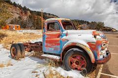 Parked (KPortin) Tags: htt truck rusty snow utah