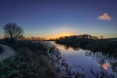 Reservoir path. (Darren Speak) Tags: december sunrise cold reservoir ingbirchworth