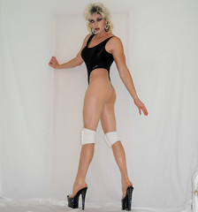 Well...well...well... (queen.catch) Tags: longlegs legsfordays pantyhose shemale tranny sissy femboi bathingsuit thongleotard heels leg length record catch queen dragqueen kneepads wig makeup shiny lycra hosiery nylons glam