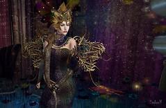 Wings (Sadwolf SL Photos) Tags: thelookingglass enchantment dress bird grimm fantasy model woman mesh bento avatar sl secondlife wings snake