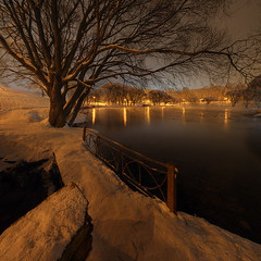 once in winter (Sergey S Ponomarev) Tags: sergeysponomarev canon eos 70d efs1018mmf4556isstm landscape paysage paesaggio landschaft night winter inverno january snow frost cold russia russie russland north nord kirov viatka vyatka wjatka 2018 panorama pano hdr highdynamicrange fence path water pond lanterns garden сергейпономарев europe europa пейзаж киров вятка россия ночь зима январь пруд деревья парк снег холод мороз ограда тропинка прогулка фонари