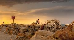 Fishing with Dad (JDS Fine Art Photography) Tags: fishing fatherandson dad sunset beach rocks beauty beautifulsunset naturesbeauty inspirational