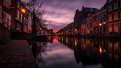 A typical dutch canal (Haasnoot94) Tags: netherlands dutch sony sonya6300 canal leiden sunset longexposure ndfilter 10stop bigstopper cokin