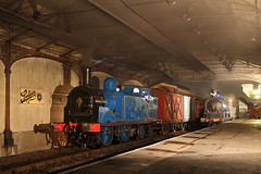 Back in Blue (Treflyn) Tags: caledonian railway duo recently overhauled 439 class 044t 419 812 060 828 boness kinneil station scottish preservation society srps night shoot photo charter