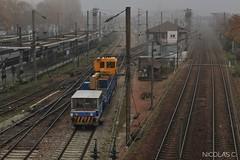 Mauzinette n°1 + DU94B n°8129 - HLP - Train n°508528 Argenteuil-Triage > Achères-Triage (nicolascbx) Tags: du94b draisine railcar mauzin mauzinette measurementtrain sncf sncfréseau sncfinfra infra argenteuil argenteuiltriage valnotredame valdargenteuil lignej vb2n train gcnord 8129 508528
