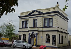 Inglewood near New Plymouth Taranaki. An old 19th century bank. (denisbin) Tags: moubntruapehu volcano activevolcano inglewood taranaki bank rhododendron warmemorial sirrobertpeel