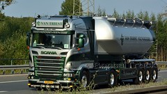 NL - Van Triest Scania R13 450 HL (BonsaiTruck) Tags: ffb feldbinder triest scania lkw lastwagen lastzug silozug truck trucks lorry lorries camion caminhoes silo bulk citerne powdertank