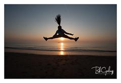 Hairspray Extra Strong (Bob Geilings) Tags: hairspray see sunset jump shore coast noordzee evening mood beach