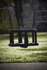 Ferguslie Gardens Autumn (90) (dddoc1965) Tags: dddocdavidcameronpaisleyphotographeroctober25th2018fergusliegardensparkpondswansripplesreflectionsbaloonwaterdewlittertrachplastictreeswoodsidecemeteryautumnhuescolours swingpark playground swings childrensplayarea