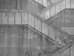 Street Stairs (Senhor Guillén) Tags: concrete stairs street composition graffiti geometry lines nofilter