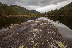 rocky river (crazyhorse_mk) Tags: otra setesdalen valle austagder norway landscape nature rock river water valley forest mirror sky clouds rocky