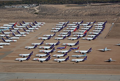Victorville Storage Ramp (corkspotter / Paul Daly) Tags: kvcv vcv victorville scla southern california logistics airport desert storage fedex martinair cargo md11 a310 747 757
