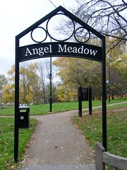 Angel Meadow, Manchester = 40,000 burial site (rossendale2016) Tags: intruders time night paved thieves rats flagstones flags cobbled streets stone houses back finds excavated dug erected new buildings centre city mourners flowers saints all michaels st reinterred interred reburied remembered work no starving shortage food death black flu disease died industrial slums forgotten children women men unknown gave mass ground burial buried paupers poor thousand forty manchester meadow angel