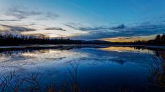 Blue hour sur les étangs (Pierre Villanti) Tags: valléedelarve bluehour coucherdesoleil paysage sunset landscape canoneos5dmarkiv canon1635f4lisusm