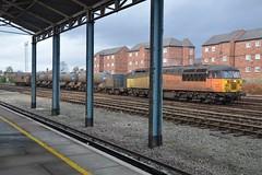 """Colas Rail Class 56, 56078 & 56087 (37190 """"Dalzell"""") Tags: colasrail orangeyellowblack rhtt railheadtreatmenttrain doncasterbuilt brush type5 grid class56 56078 56087 chester"""