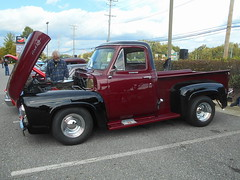 1955 Ford F-100 (splattergraphics) Tags: 1955 ford f100 pickup truck custom carshow asphaltangels bowiemd