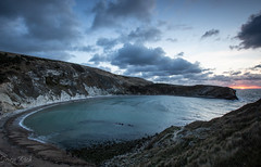 Lulworth Cove Sunrise (Simon Rich Photography) Tags: lulworth cove dorset sun sunrise morning cloudy clouds water sea jurassic coastline cliffs seascape landscape photography simonrich simonrichphotography mrmonts canon beach waves tide tidal