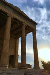 Acropole III - Pandroséion (Julien JUBIN) Tags: hellas temple colones athenes athena ciel sky sunset couchersoleil grece
