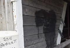 Bernice T. (RockN) Tags: graffiti coveredbridge bw august2016 hartland newbrunswick canada