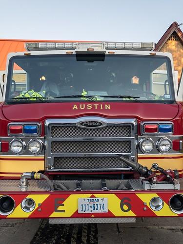 Austin Fire Truck Front Closeup