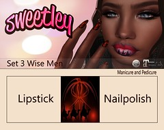 Sweetley - Set 3 Wise Man add ( Gift for Versus) (Sweetley SL) Tags: sweetley sl secondlife verusu lipstick nailpolish manicure pedicure fashion style gift 0l free 3wisemen holiday christmas xmas unique lovely beautiful timely original newrelease copyrighted
