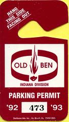 Old Ben Coal Parking Permit-2 (Coalminer5) Tags: coalmining coalminer coalmemorabilia coalcollectibles oldbencoal oldben indianacoal parkingpermit mining miningmemorabilia miningcollectible miningartifacts ephemera umwa unitedmineworkersofamerica unitedmineworkers