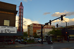 Downtown Casper, WY (radargeek) Tags: 2018 july sky clouds casper wy wyoming neon sign rialto ranchoutfitters loutaubert sunset