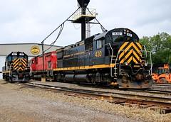The 430s (BravoDelta1999) Tags: westernnewyorkandpennsylvania wnyp railroad erie railway conrail cr manifest train alco 251 mlw m636 643 c430 430 432 olean newyork state yard locomotive shops