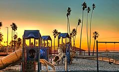 Oceanside Harbor Playground 2 (rod1691) Tags: oceanside california beach pier playground slides palms sunrise