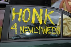 """Honk 4 Newlyweds • <a style=""""font-size:0.8em;"""" href=""""http://www.flickr.com/photos/109120354@N07/46103900571/"""" target=""""_blank"""">View on Flickr</a>"""