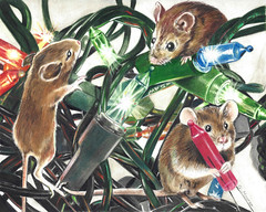 Why the Lights Don't Work This Year (GayleMaurer006) Tags: mice mouse christmas lights