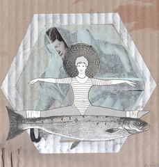 November 23rd 2018 (kurberry) Tags: collage collageaday analoguecollage analogcollage losdiascontados fish calisthenics