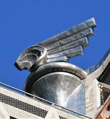 Wing-ed (caboose_rodeo) Tags: 92562 winged detail architecture manhattanasmallislandoffthecoastofamerica nyc newyorkcity sky skyline skyscraper artdeco