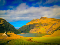 Saksun, Faroe Island (Oliver Weihrauch) Tags: saksun fernweh zugrocken adventureculture atlanticocean fjord church lightroom travelforlife zugrocker bmgforlife streymoy wanderlust picoftheday faroeisland clouds
