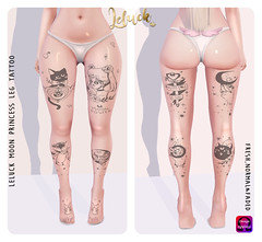 [LeLuck]Moon Princess Leg Tattoo (Sunkora) Tags: secondlife suicidedollz new leluck tattoo leg sailormoon anime cartoon omega applier