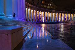 Blu Partenopeo (giobertaskin) Tags: napoli napule neapolis piazza delplebiscito disera colori luce colonnato riflesso cogliereiriflessi aspettareilblu sagrato partenopeo