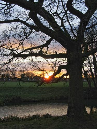 River Eye at sunset