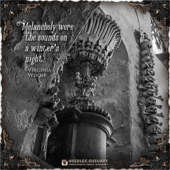 """""""Melancholy were the sounds on a winter's night."""" -Virginia Woolf . 💀Turn on post notifications, click link in BIO to follow along on our journey, and sign up on our mailing list at: ☩ sedlecossuary.mechanicalwhispers.com ☩ . 🌟 Lots more excit (Sedlec Ossuary Project) Tags: sedlecossuaryproject sedlec ossuary project sedlecossuary kostnice kutnahora kutna hora prague czechrepublic czech republic czechia churchofbones church bones skeleton skulls humanbones human mementomori memento mori creepy travel macabre death dark historical architecture historicpreservation historic preservation landmark explore unusual mechanicalwhispers mechanical whispers instagram ifttt"""
