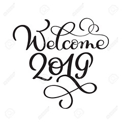 Welcome 2019 year. Handwritten numbers on banner. Label vector illustration on a white background, modern brush calligraphy (ελενα) Tags: welcome 2019 vector background banner calligraphy illustration abstract business creative decoration design flyer graphic invitation isolated party poster symbol art back blot book children color concept education frame globe hand kid lettering paint paper retro ribbon sale school shopping sketch splash spot study template text texture university vintage water