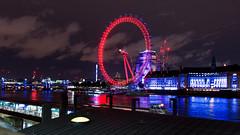 London Eye - London (dl07portfolio) Tags: london eye carousel night neons lights tames circle