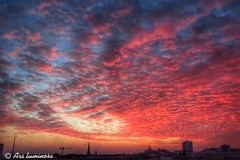Berlin sunset - instead of the invisible blood moon #skyporn #clouds #sunset #berlin #arsluminosa (Ars luminosa) Tags: skyporn clouds sunset berlin arsluminosa