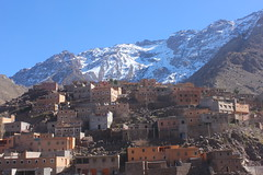 At the foot of the Grand Atlas (Explore) (jgg35) Tags: december 2018 morocco village mountain grandatlas snow