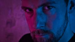 Bi Lighting Test Selfie (CarnivoreDaddy) Tags: portrait closeup face male man beard eyes catchlight lighting colours blue purple blueandpurple bilighting bisexuallighting self selfportrait selfie handheld impromptu experiment experimental nikon d7000 nikkor 35mmf18 nikkor35mmf18 skylum lumimar luminar2018