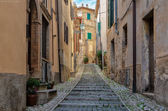 Casperia, Central Italy (Claudio_R_1973) Tags: casperia sabina reatino centralitaly italia italy village antique old street road lane wall architecture stairs outdoor d800 urban