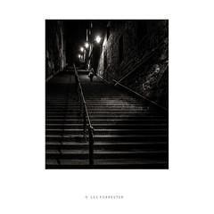 How many steps (les forrester) Tags: city urban monochrome blackandwhite edinburgh scotland travel moody dark oldsteps night leica leicauk leicaq